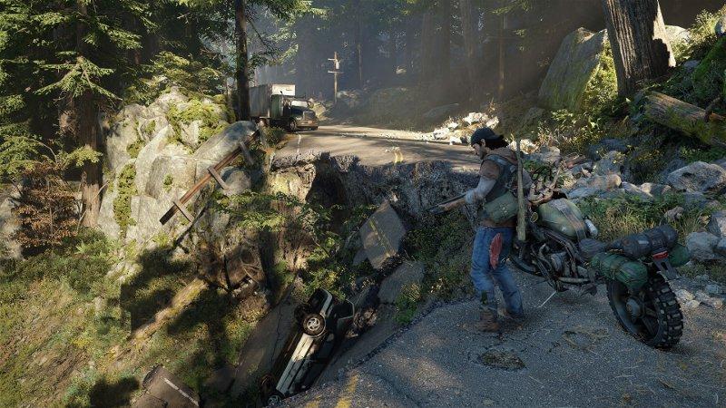 Скриншот игры Days Gone, выход которой намечен на 2017 год.