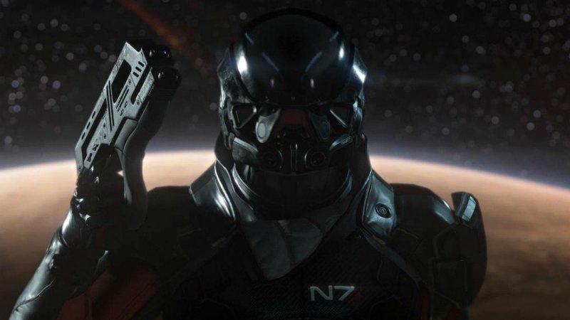 Крупный план одного из героев игры Mass Effect: Andromeda