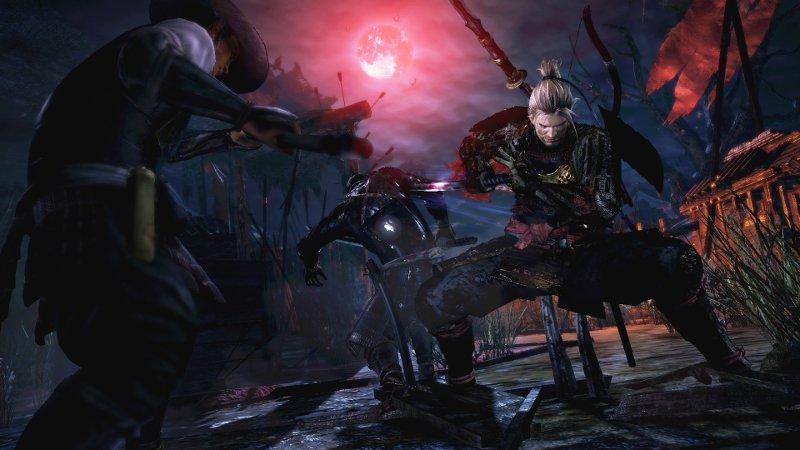 Герой игры Ni-oh сражается с демонами