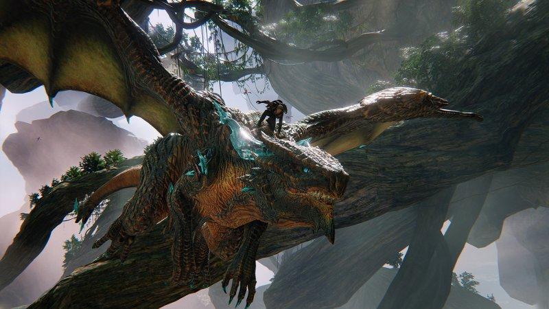 Главный герой игры Scalebound верхом на драконе