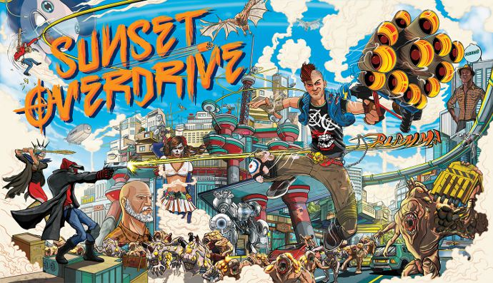 постер игры sunset overdrive