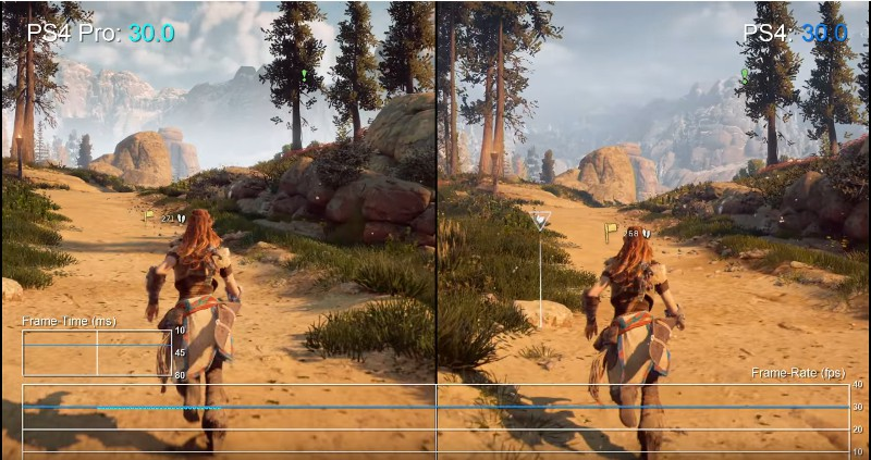 horizon zero dawn на playstation 4 pro и обычной ps4