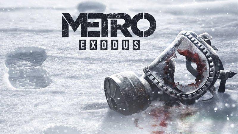 Metro Exodus - изображен противогаз на снегу